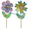 promotional flower plastic toy windmill