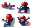 pvc spider man with sticker/plastic toy spider man/spider man figure