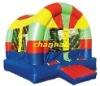 rainbow inflatable bouncer