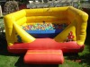 red and yellow inflatable pvc bounce combo for ball