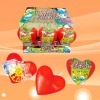 red heart surprise toy with bubble gum / confectionery toy