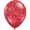 red lovely printing latex balloons for festival