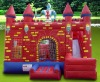 red wall inflatable combo