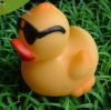rubber duck with black glasses-bath toys