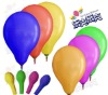 six number latex round balloon