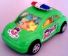 small green police car toy candy