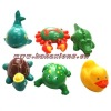 small pvc rubber animal toys for babies and kids