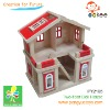 solid wood doll house toy(Two-floor Doll House)