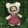 tiny bear 3d face doll