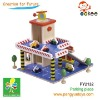 two floor emulation wooden toy parking garage (play toys)