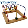 wooden bead coaster educational toys