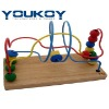 wooden educational bead roller coaster toy