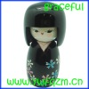 wooden japanese doll