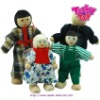 wooden toy family