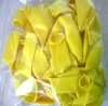 yellow 12'' round balloon